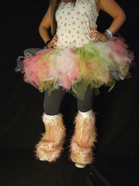 Green Pink and White Petticoat