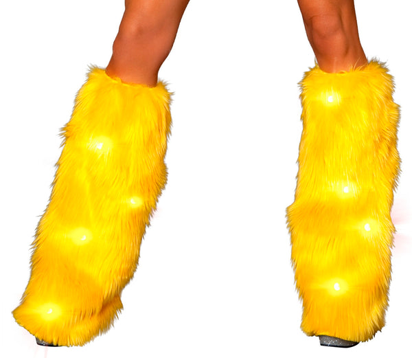 Sunshine fluffy leg warmers