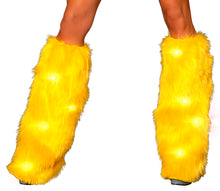 Sunshine fuzzy leg warmers
