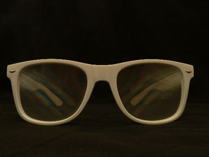 Rainbow Diffraction Vision Glasses White