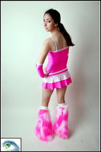 Long Cyberslash Pink & White Outfit Back