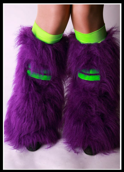 Hi-Viz Purple & Green Fluffies