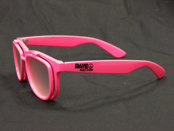 Rainbow Diffraction Vision Sunglasses- Pink