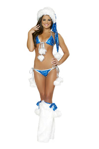 Silver Star Bikini Rave Outfit Front