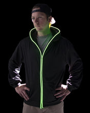 Black Light Up Hoodie - Green LED