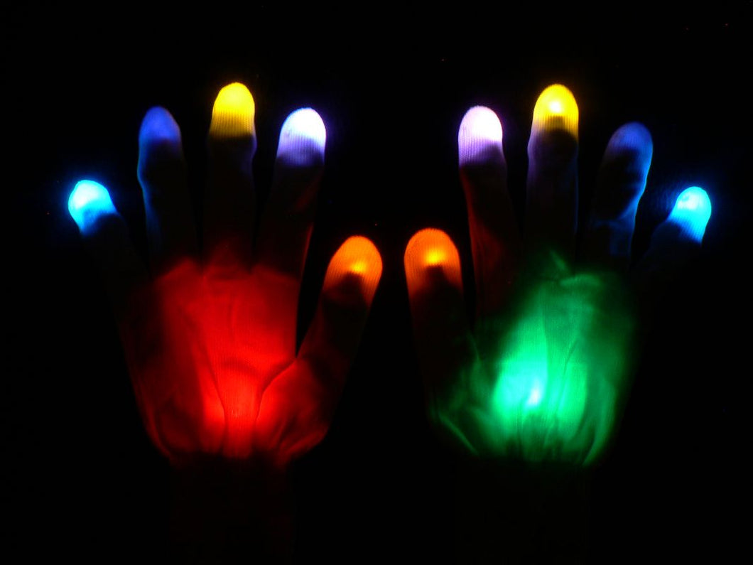 Skittles Custom Rave Gloves