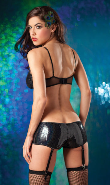 Sequin Short Dance Short Set (back)