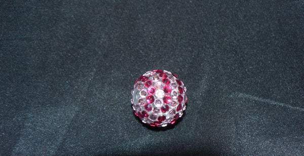 Red Striped Disco Bead