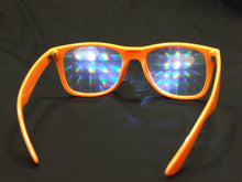Rainbow Diffraction Vision Glasses- NEON ORANGE