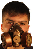 Dual Cartridge Steampunk Gas Mask Rivets 3