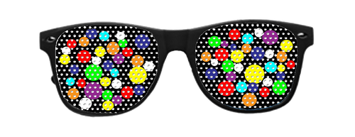 Bubble Vinyl sun glasses with Black Frames
