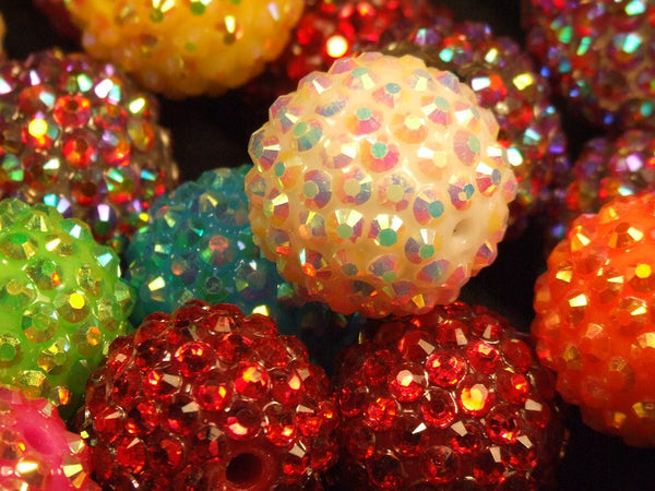 Medium Sized Disco Ball Beads close