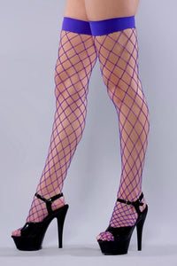 Fishnet Stockings- Blue