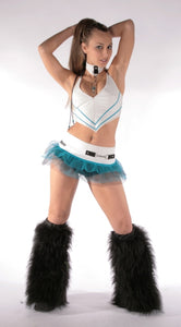 Tink Outfit White and Turquoise 2