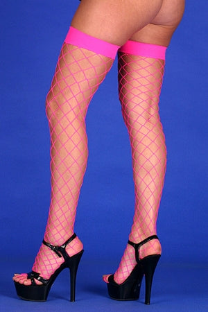 Fishnet Stockings- Pink