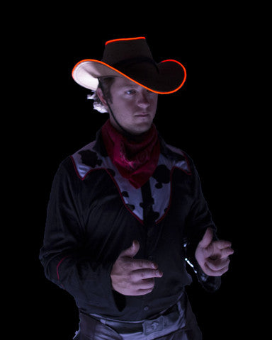 Orange El Wire Cowboy Hat