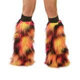 Eclipse Fluffy Leg Warmers With Black Kneebands