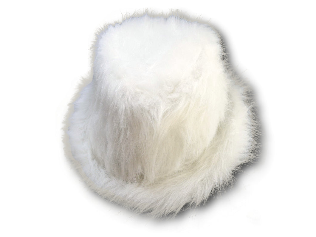 White Faux Fur Fedora Trilby Hat Soft Luxury hat