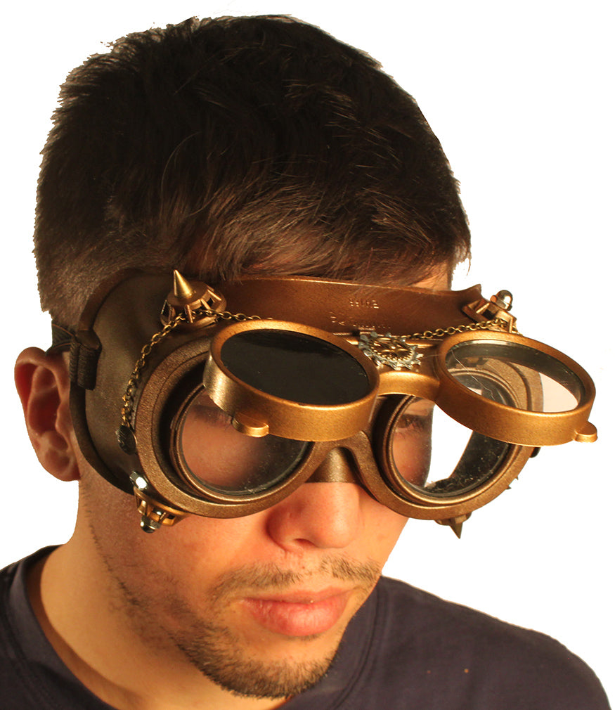 Steampunk Goggles - Outside Gear Full Chain