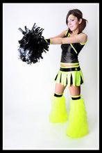 Long Cheerleader Black & Yellow Outfit