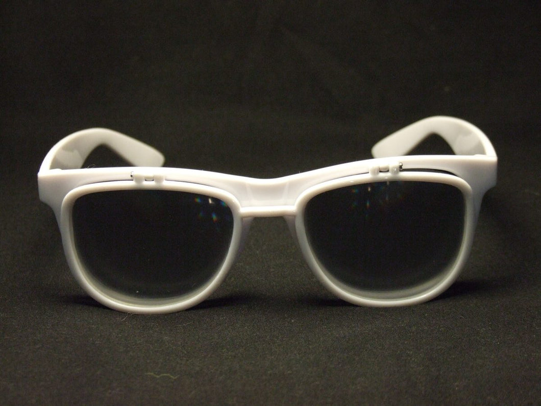 Rainbow Diffraction Vision Sunglasses- WHITE