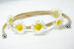 large white daisy hippy halo