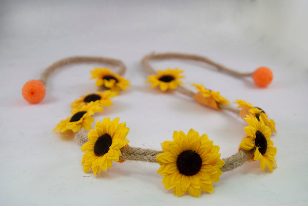 Yellow Sunflower Flower Crown Headband 1