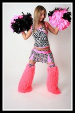 Long Cheerleader Pink & Zebra Outfit
