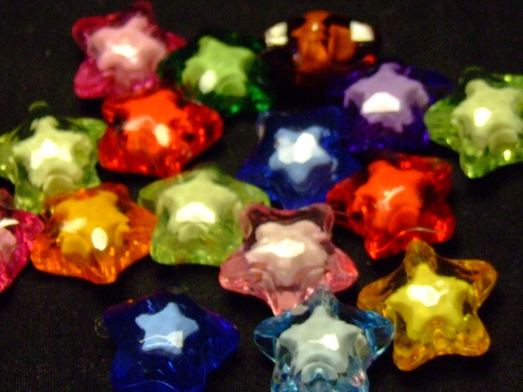 Little Stars (see through) - assorted lot of 10
