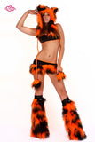 Furry Tiger Rave Outfit Front