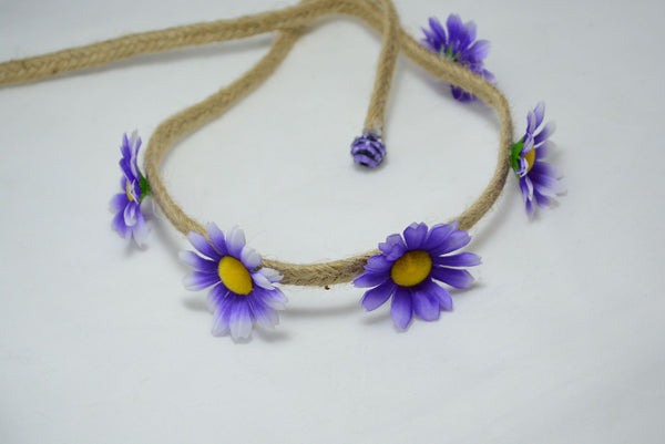 small purple daisy flower crown