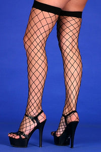Fishnet Hold Ups- Black