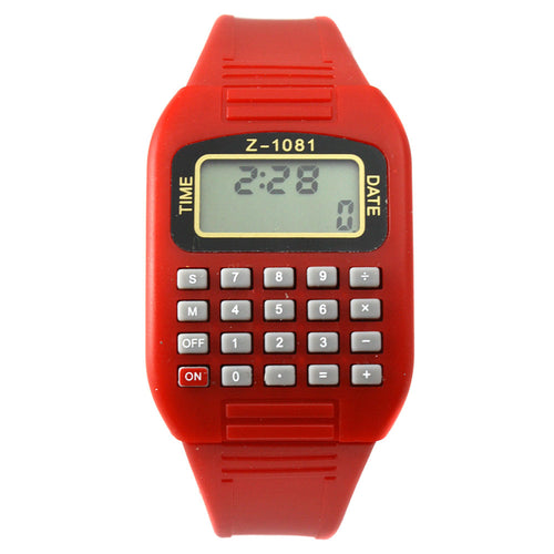 Red LED calculator watch