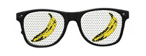 Banana Vinyl Raver Shades with Black Frames