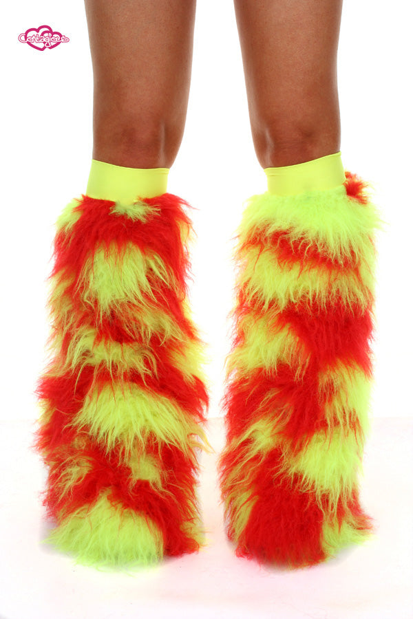 Lava Furry Rave Leg Warmers