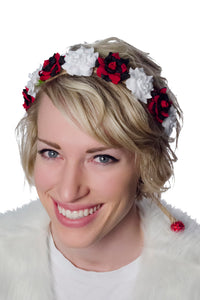 Red Black and White Flower Crown Model