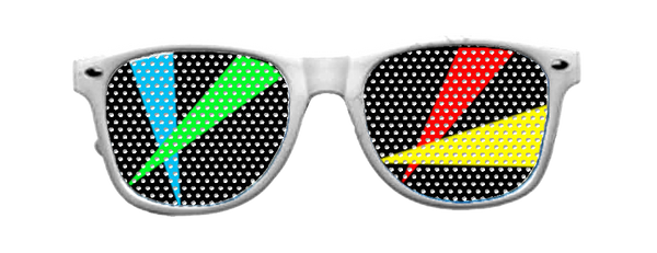 Laser Vinyl Shades with White Frames