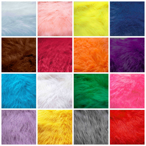 Solid color Fake fur collage