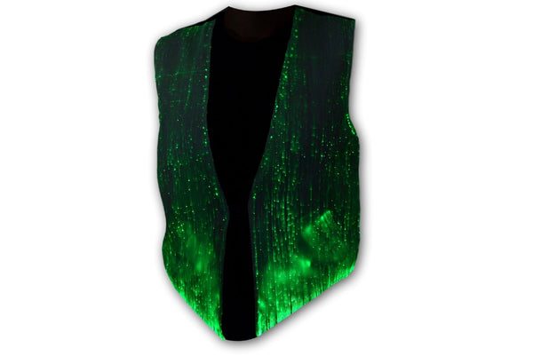 Fiber Optic Light Up Front and Back Waistcoat