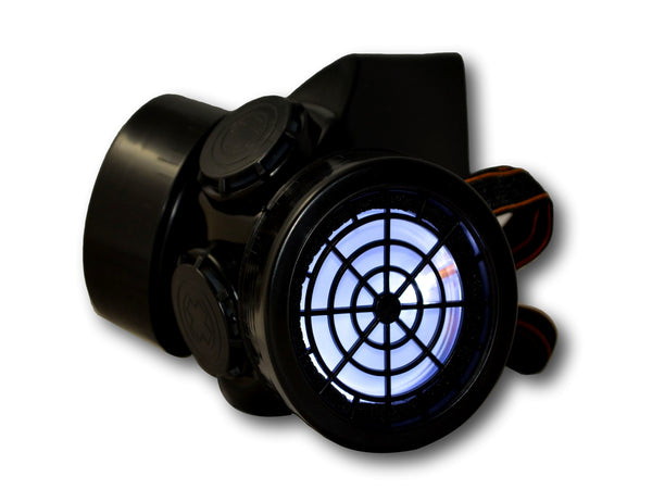 Steampunk LED Gas Mask - Black Frame