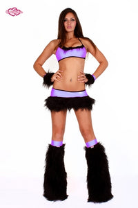 Juicy Rave Outfit -Lilac/Black