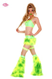 Juicy Rave Outfit -Lemon/Lime Front