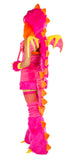 Pink Dragon Rave Costume Back