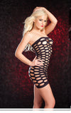 Cutout Tube Net Dress