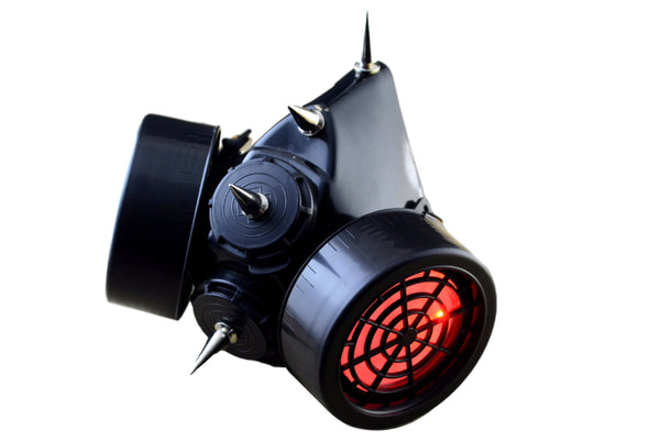 spiked Gas mask red