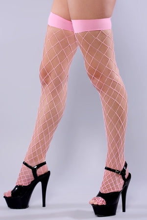 Fishnet Hold Ups- Baby Pink