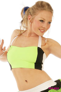 Optional Halter Top in Nitro Lime