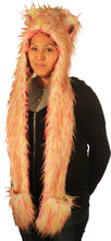 Animal hood White with Pink and Lime Spikes 1