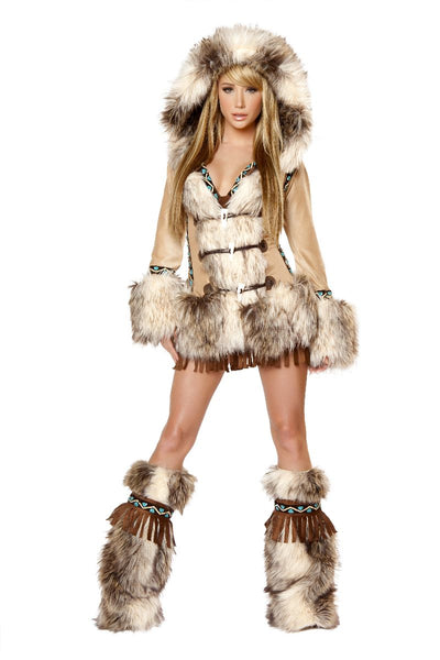 Brown Eskimo Hooded Coat That You can add!