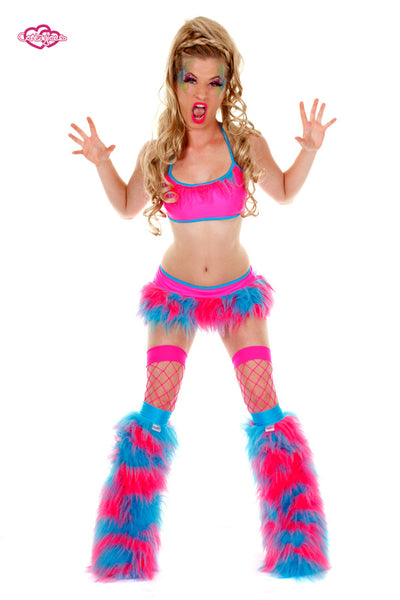 Juicy Rave Outfit -Pink/Turquoise Front